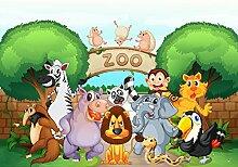 wandmotiv24 Fototapete Zootiere Kinder M0302 XS
