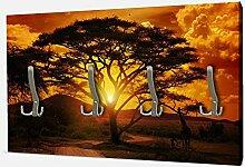 wandmotiv24 Garderobe Afrika Sonnenuntergang