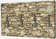 wandmotiv24 Garderobe Alte Steinmauer