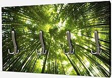wandmotiv24 Garderobe Bambus Wald Wandgarderobe