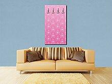 wandmotiv24 Garderobe Barock Pink Muster Wandgarderobe M0123 Hochformat - 55x100 (BxH) - Dekorfolie Kratzschutz Glanz