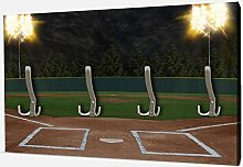 wandmotiv24 Garderobe Baseball Stadion