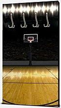wandmotiv24 Garderobe Basketball Platz