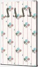 wandmotiv24 Garderobe Exotische rosa und Blaue