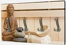 wandmotiv24 Garderobe Finnische Sauna, Wellness-
