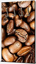 wandmotiv24 Garderobe Geröstete Kaffeebohnen