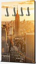wandmotiv24 Garderobe New York Wandgarderobe M0444