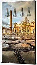 wandmotiv24 Garderobe Petersplatz, Vatikanstadt
