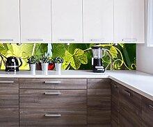 wandmotiv24 Küchenrückwand Glas mit Rotwein im