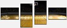 wandmotiv24 Leinwandbild Basketball Platz Variante