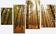 wandmotiv24 Leinwandbild Bunte Herbstlandschaft