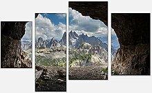 wandmotiv24 Leinwandbild Dolomiten Alpen Variante