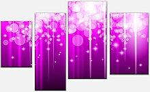 wandmotiv24 Leinwandbild Pinker Lichterregen
