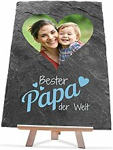 wandmotiv24 Schiefertafel Vatertag mit