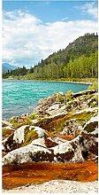 wandmotiv24 Türtapete Altai Katun 100 x 200cm (B