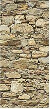 wandmotiv24 Türtapete Alte Steinmauer 90 x 200cm