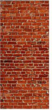 wandmotiv24 Türtapete Backstein rot Stadt 90 x