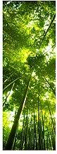 wandmotiv24 Türtapete Bambus Wald 70 x 200cm (B x
