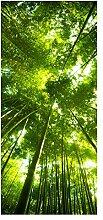 wandmotiv24 Türtapete Bambus Wald Tapete Tür
