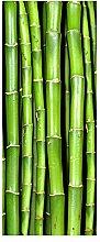 wandmotiv24 Türtapete Bambuswand 80 x 200cm (B x