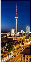 wandmotiv24 Türtapete Berlin bei Nacht 100 x
