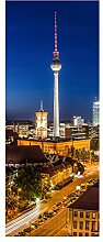 wandmotiv24 Türtapete Berlin bei Nacht 80 x 200cm
