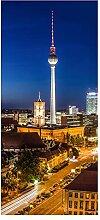 wandmotiv24 Türtapete Berlin bei Nacht 90 x 200cm