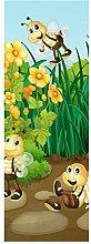 wandmotiv24 Türtapete Bienen im Garten 70 x 200cm