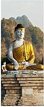 wandmotiv24 Türtapete Buddhas Statuen 80 x 200cm