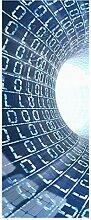 wandmotiv24 Türtapete Datentunnel Internet 80 x