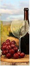 wandmotiv24 Türtapete EIN Glas Wein 90 x 200cm (B