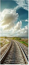 wandmotiv24 Türtapete Eisenbahn mit