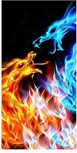 wandmotiv24 Türtapete Feuerdrachen 100 x 200cm (B