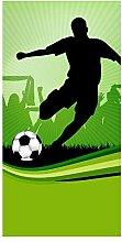 wandmotiv24 Türtapete Fussball 100 x 200cm (B x