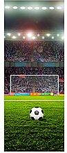 wandmotiv24 Türtapete Fußballfeld 80 x 200cm (B