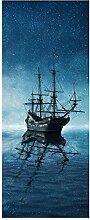 wandmotiv24 Türtapete Geisterpiratenschiff 80 x