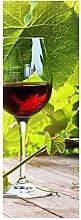 wandmotiv24 Türtapete Glas mit Rotwein im