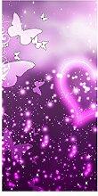 wandmotiv24 Türtapete Glücksgefühle 100 x 200cm