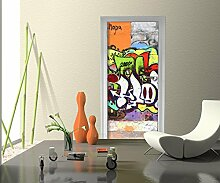 wandmotiv24 Türtapete Graffiti 2 Tapete Kunstdruck Türbild M0026 90 x 200cm (B x H) - Dekorfolie Kratzschutz Ma