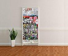 wandmotiv24 Türtapete Graffiti 3 Tapete Kunstdruck Türbild M0027 80 x 200cm (B x H) - Dekorfolie Kratzschutz Ma