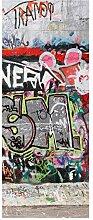 wandmotiv24 Türtapete Graffiti 3 Tapete Tür