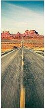 wandmotiv24 Türtapete Highway Monument Valley 80