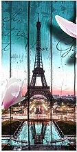 wandmotiv24 Türtapete Holz Blüten Paris
