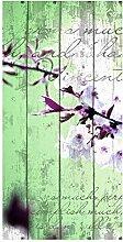 wandmotiv24 Türtapete Holz Blüten Zweig 100 x
