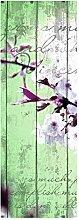 wandmotiv24 Türtapete Holz Blüten Zweig 70 x
