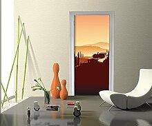 wandmotiv24 Türtapete Italienische Landschaft Natur Tapete Kunstdruck Türbild M0177 90 x 200cm (B x H) - Dekorfolie Kratzschutz Glanz