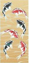 wandmotiv24 Türtapete japanische koi Fische 90 x