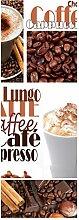 wandmotiv24 Türtapete Kaffee 70 x 200cm (B x H) -