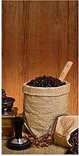wandmotiv24 Türtapete Kaffeezeit 100 x 200cm (B x