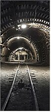 wandmotiv24 Türtapete Kohlebergwerk 90 x 200cm (B